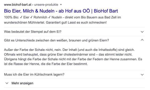 Biohof Bart Suchmaschinenoptimierung