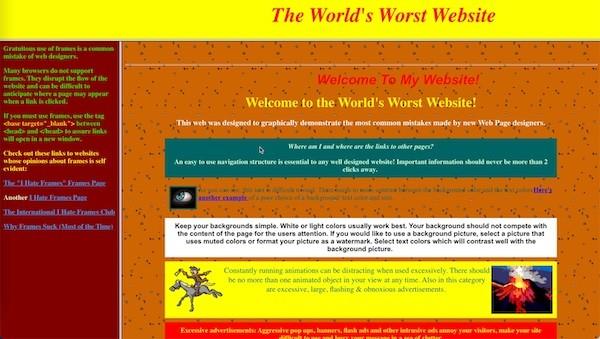 Die furchtbarste Webseite der Welt