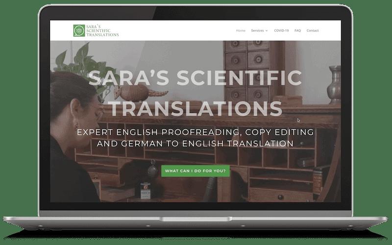 Saras Science Webseite umgesetzt von Markus Raab raabauke.at