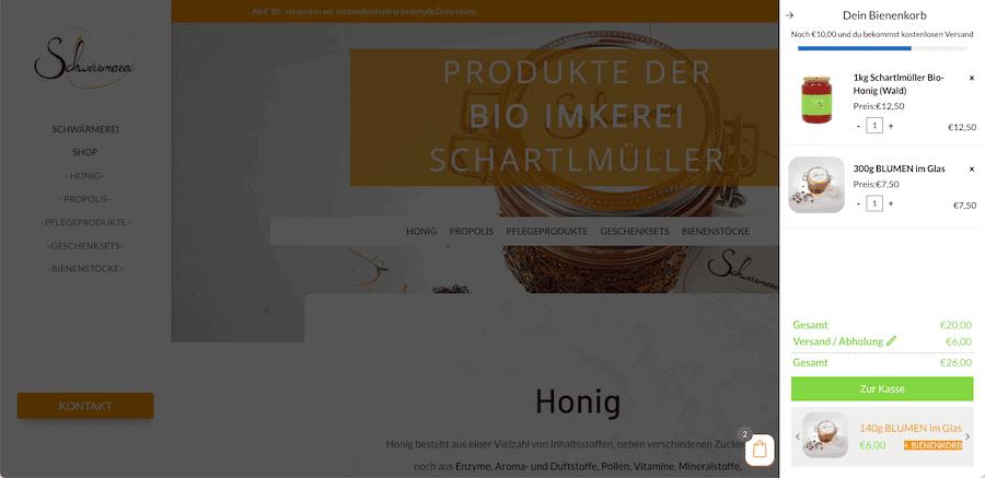 Webseite Imkerei Schartlmüller von Raabauke