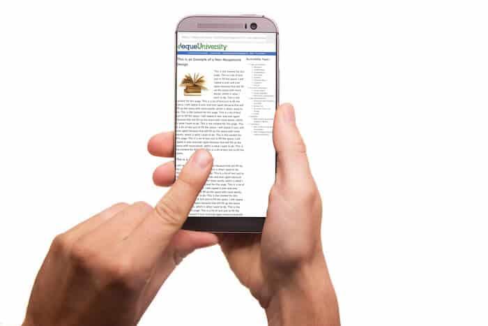 Webseite nicht mobil optimiert