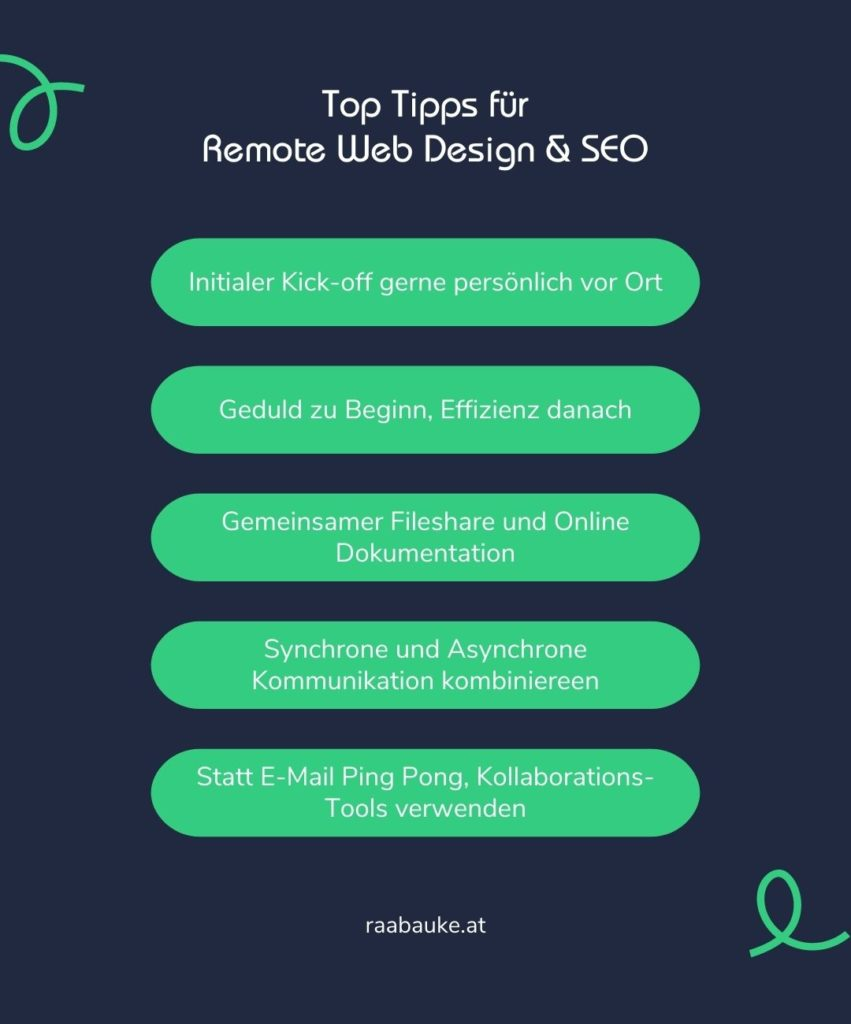 Top Tipps für Remote Web Design & SEO
