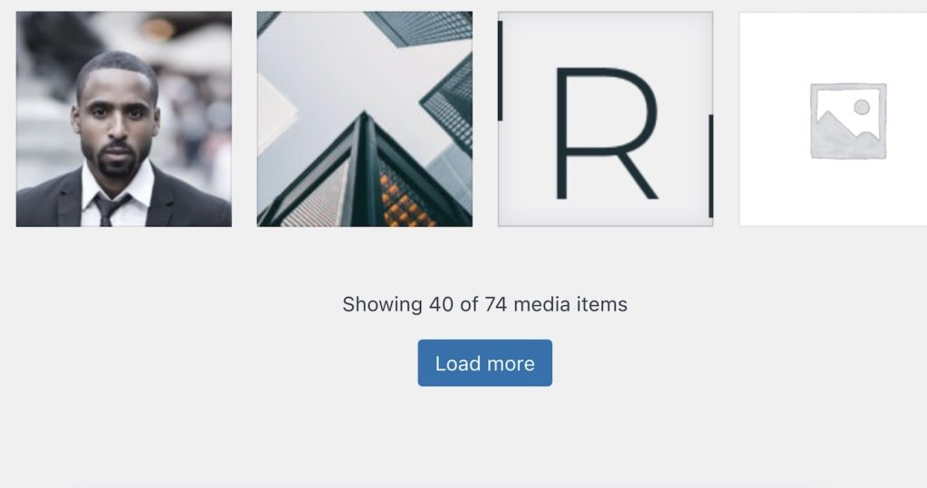WordPress Load More Button in Media Galerie ab WP5.8 (Tweak)