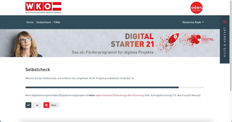 Digital Starter 21 Selbstcheck WKO
